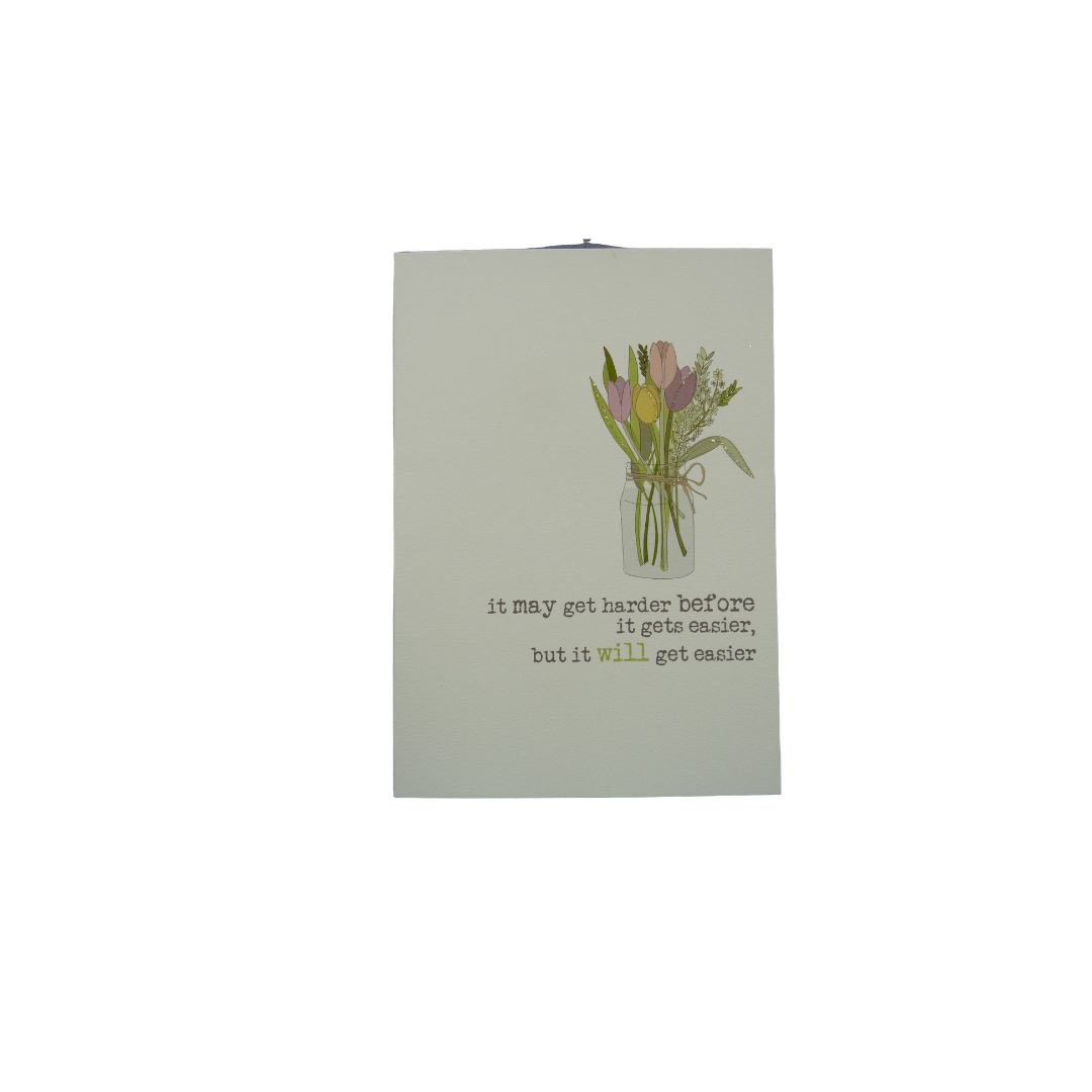 Card Thinking Of You Dandelion - It Will Get Easier 477