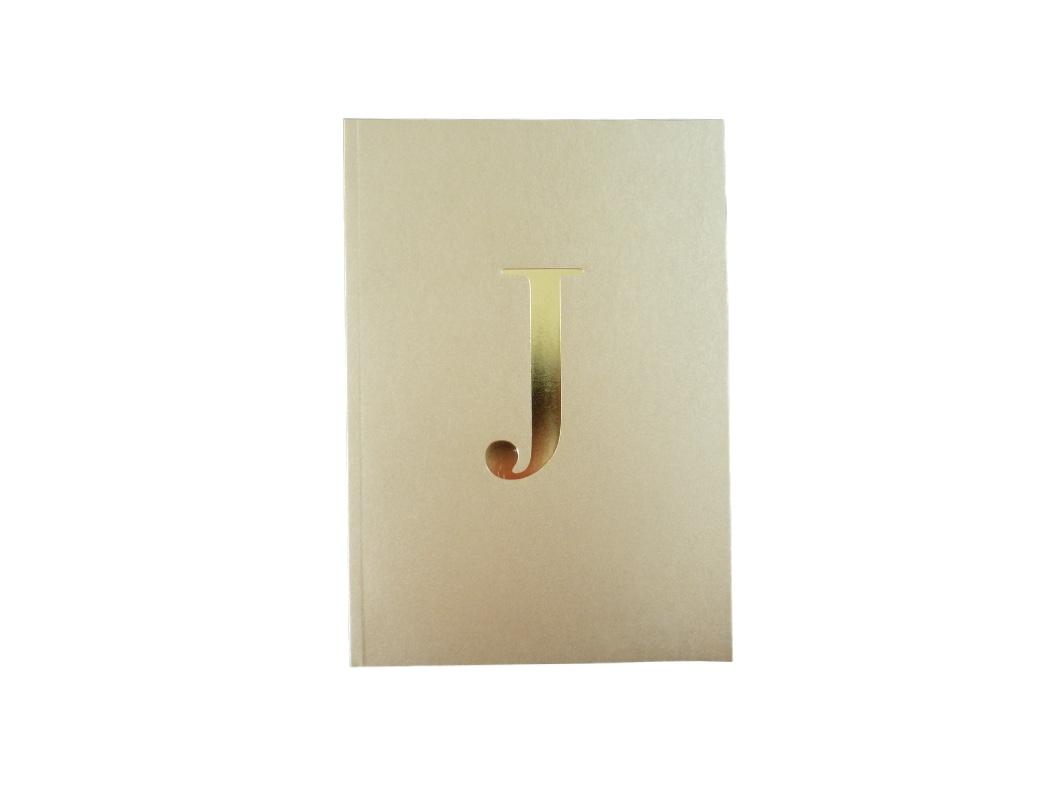 Alphabet Notebook - Gold A-Z
