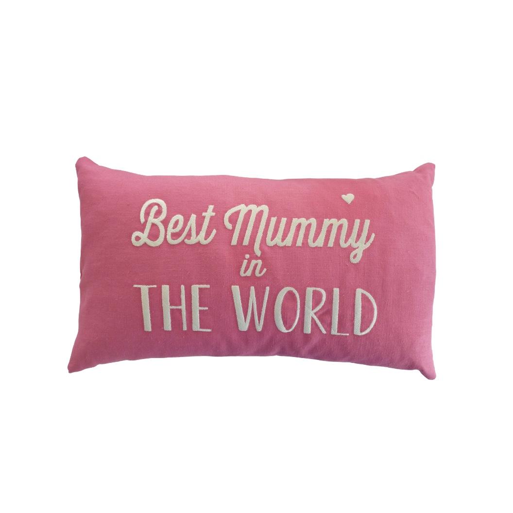 Linen Cushion - Best Mummy in the World