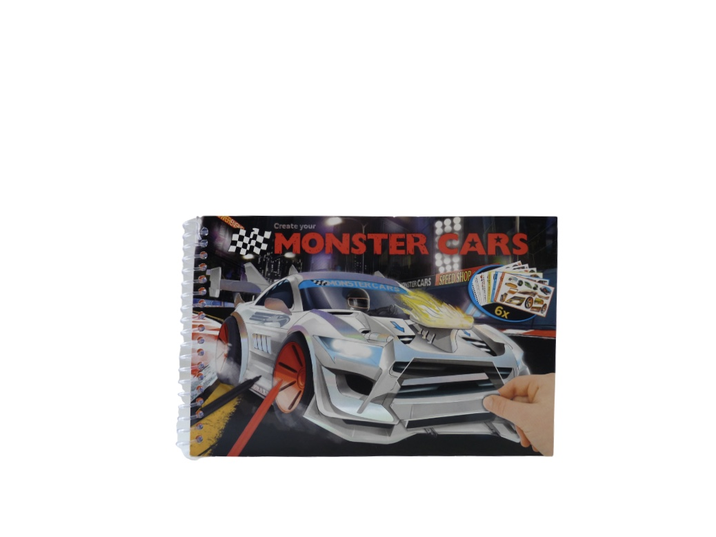 Monster Cars Colouring And Sticker Book