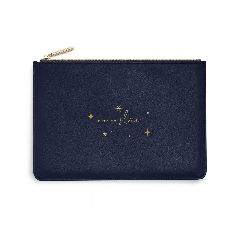 Katie Loxton Perfect Pouch - 'Time To Shine' Metallic Navy