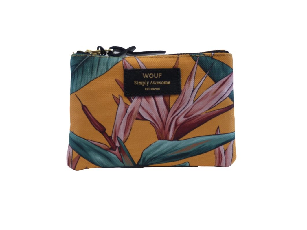 Wouf Pouch - Birds of Paradise Small