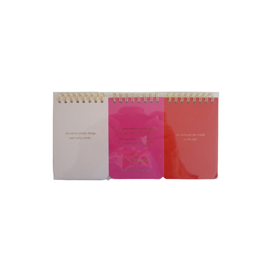 Kate Spade Spiral Notepad Set (3)