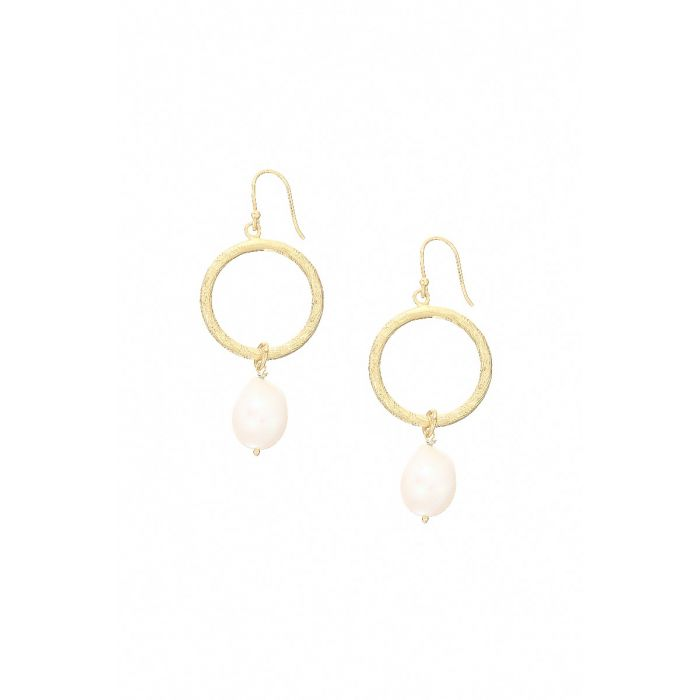 Ashiana Earrings - Margot Hoop Freshwater Pearl 720
