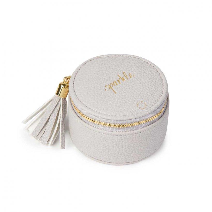 Katie Loxton Jewellery Box - 'Sparkle'  Stone Grey Round