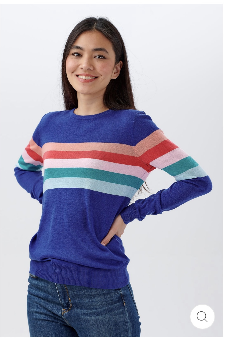 Sugarhill Brighton - Velma Sherbert Stripe Sweater French Blue