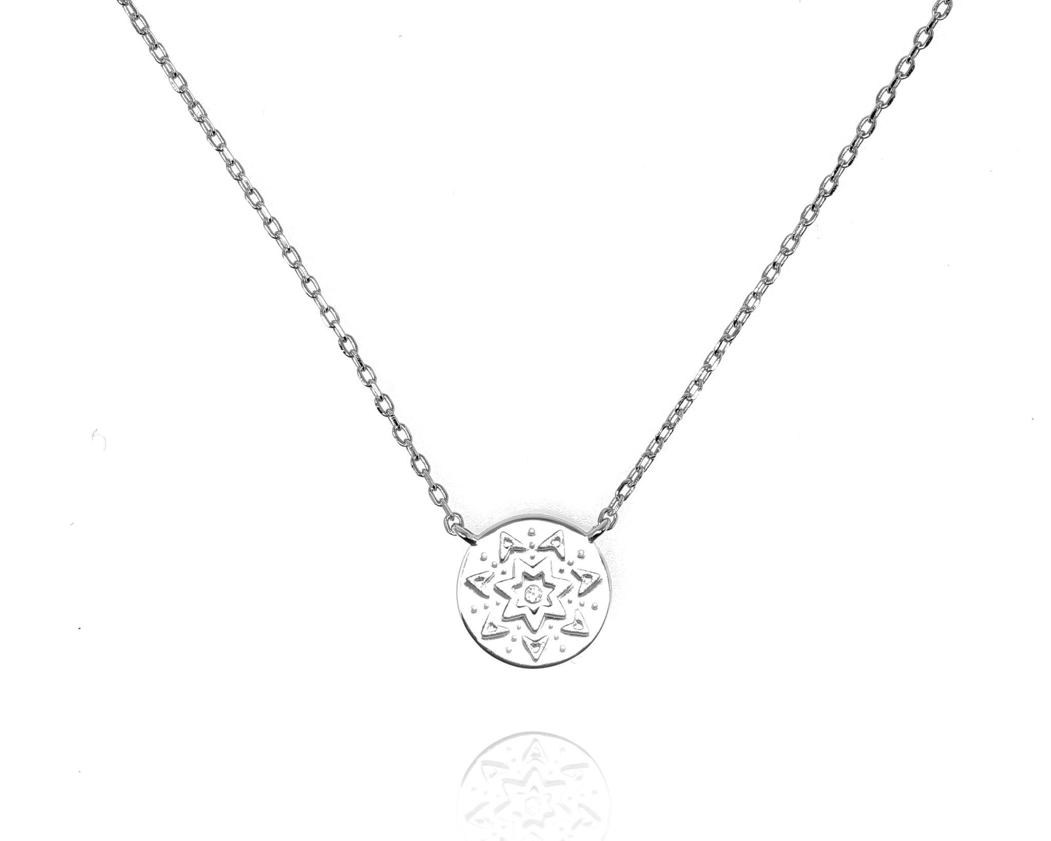 Sunburst Disc Necklace - Sterling Silver NG-22/S