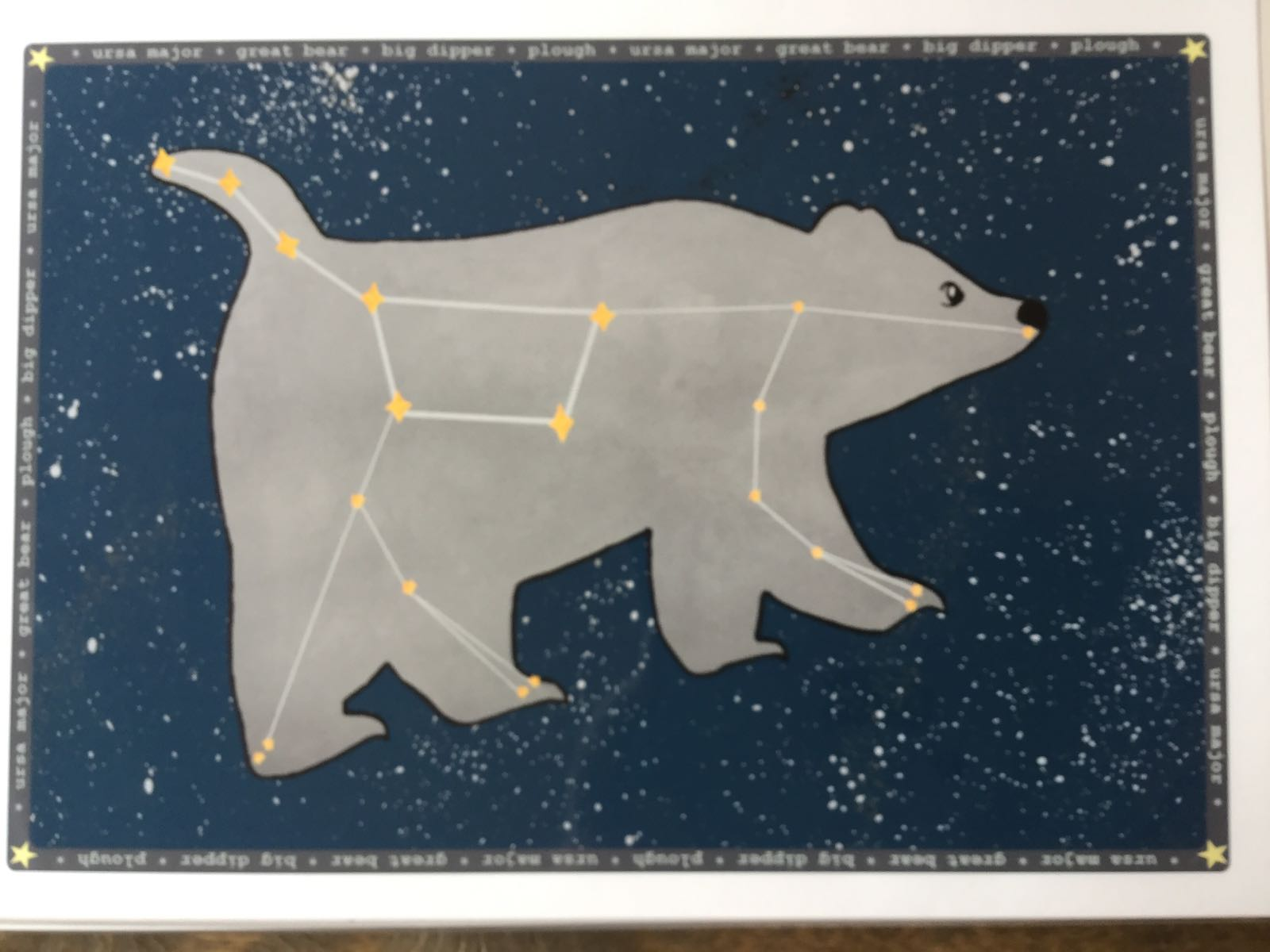 LLS A4 Starry night Great Bear print