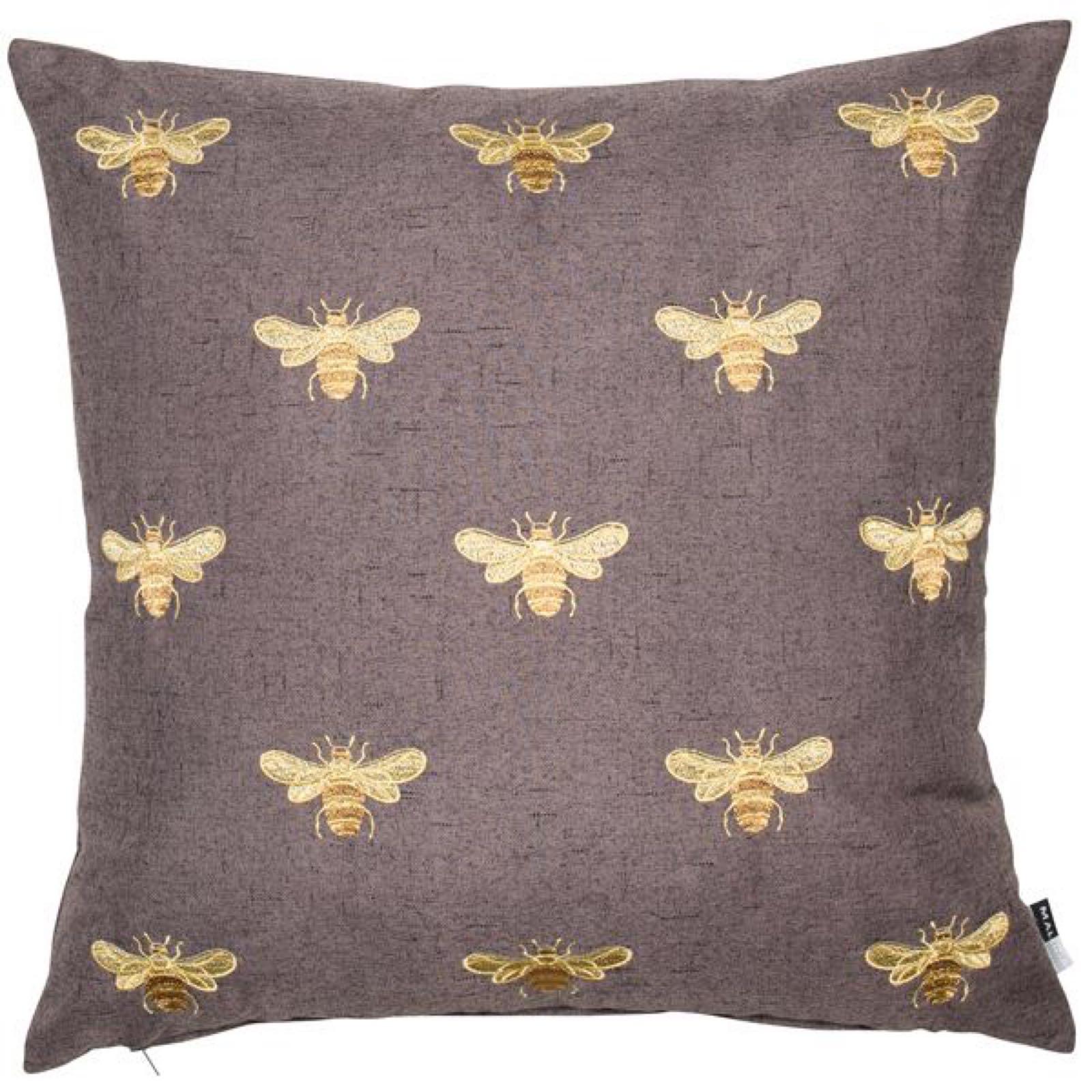 Bee Cushion - Truffle