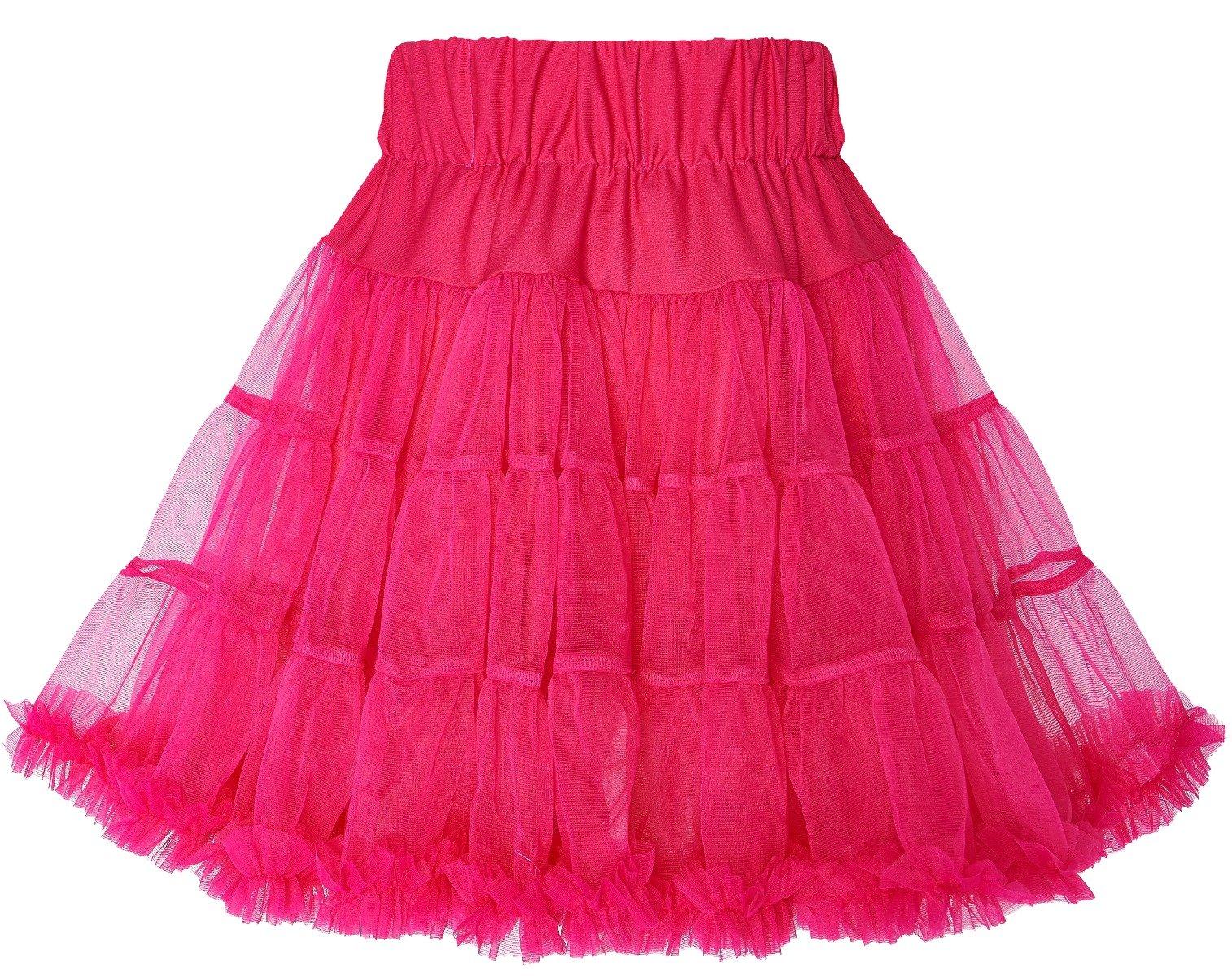 Tyll-underkjol Hot Pink