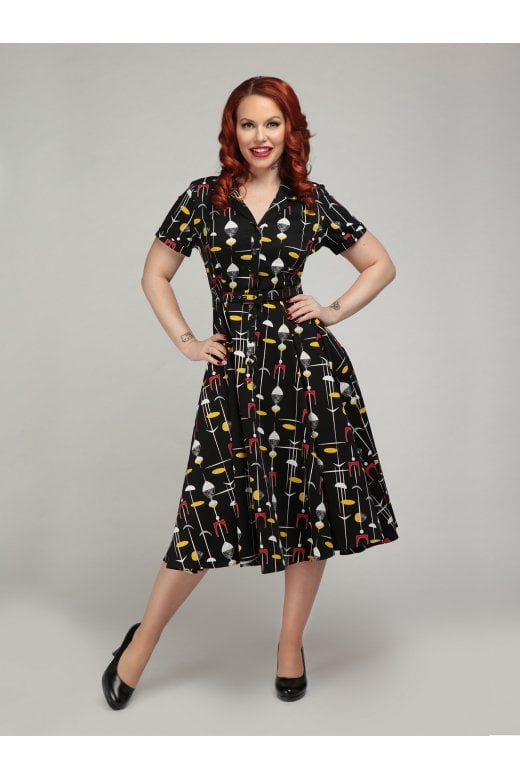 CATERINA 50S ATOMIC SWING DRESS