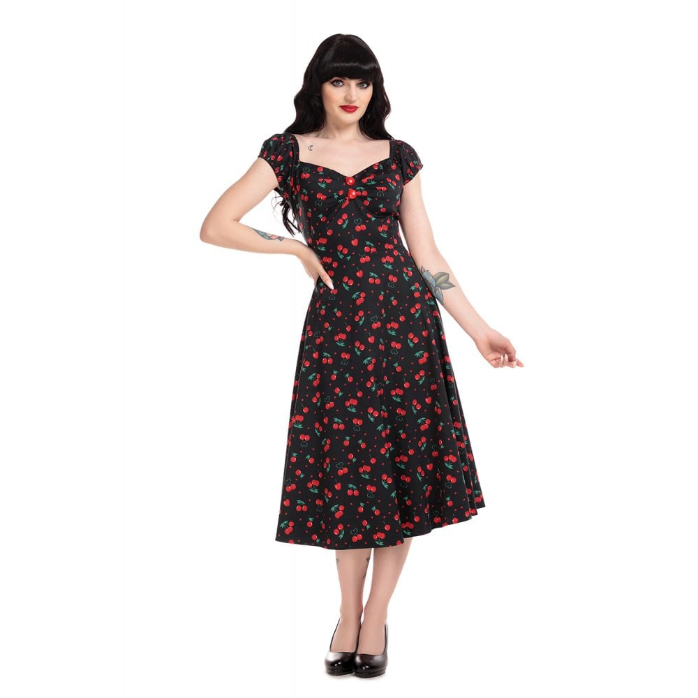 DOLORES CHERRY LOVE DOLL DRESS