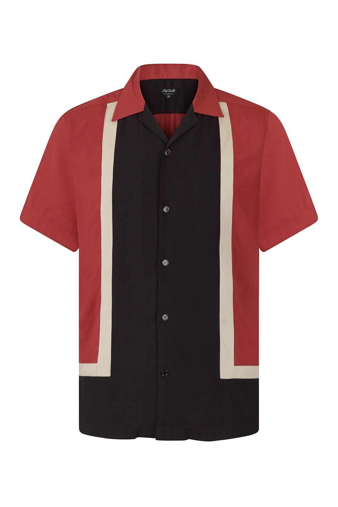 WALTER CONTRAST PANEL BOWLING SHIRT