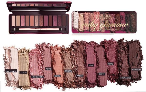 EYESHADOW PALETTE 12 COLORS RUBY GLAMOUR