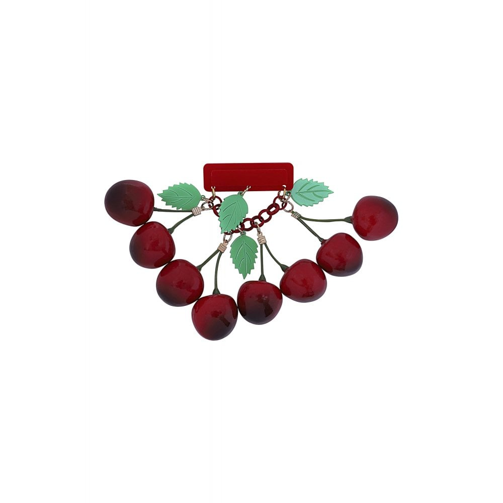 VINTAGE 40S CHERRIES BROOCH
