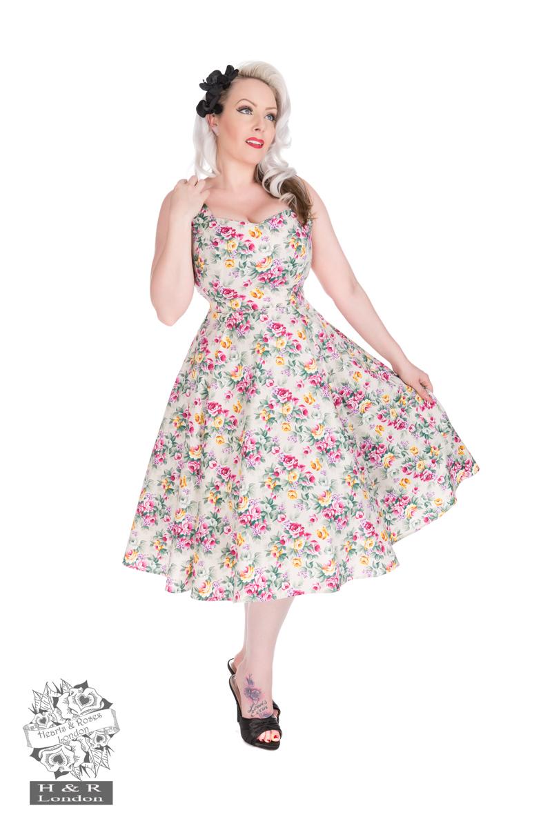 Lilac Posy Floral Swing Dress