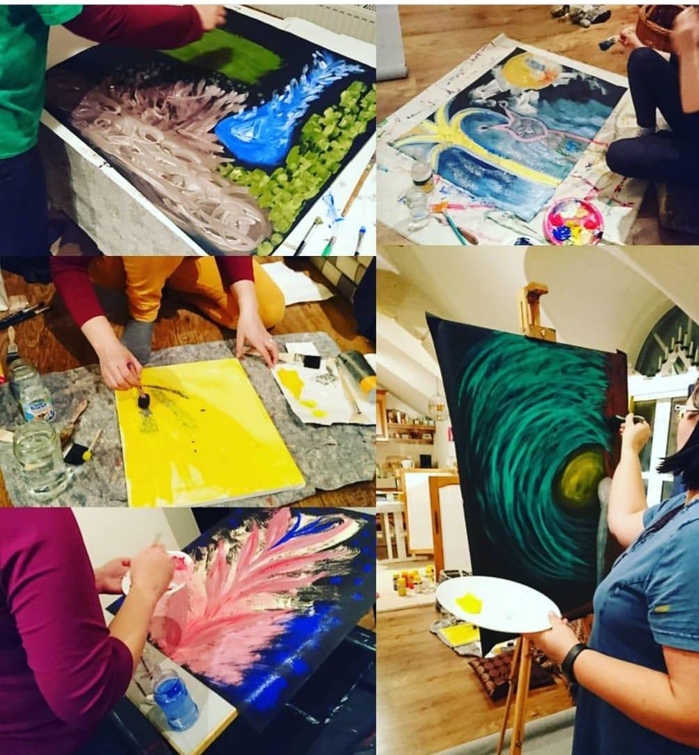 Vapauttava maalaaminen kotikutsut