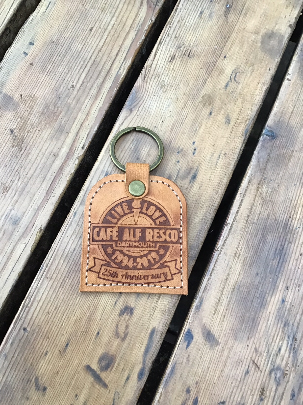 Cafe Alf Resco Limited Edition 25th Anniversary Handmade Leather Keyring