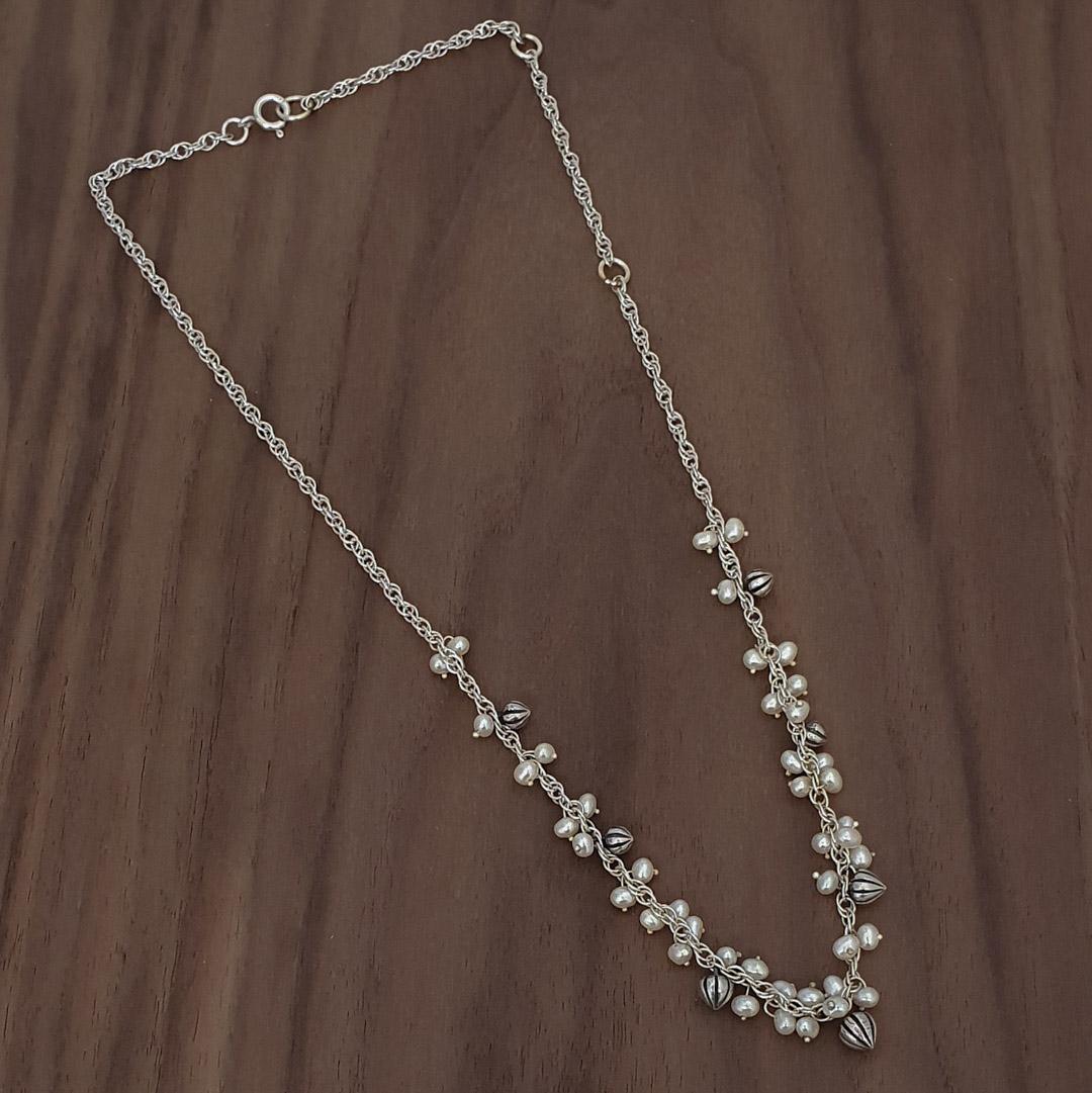 Tiny Pod Cascade Necklace