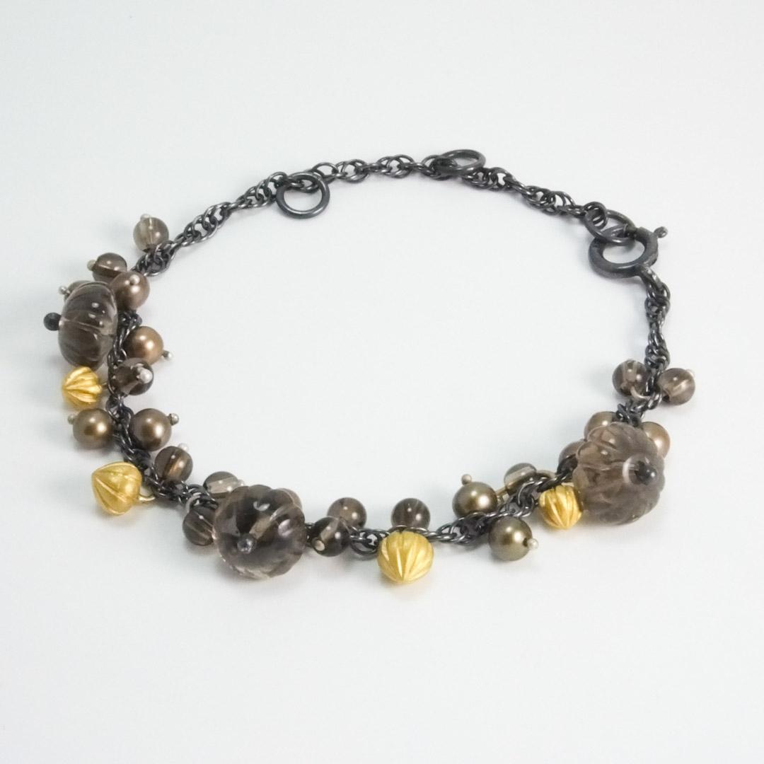 Pod Cascade Bracelet: smoky quartz