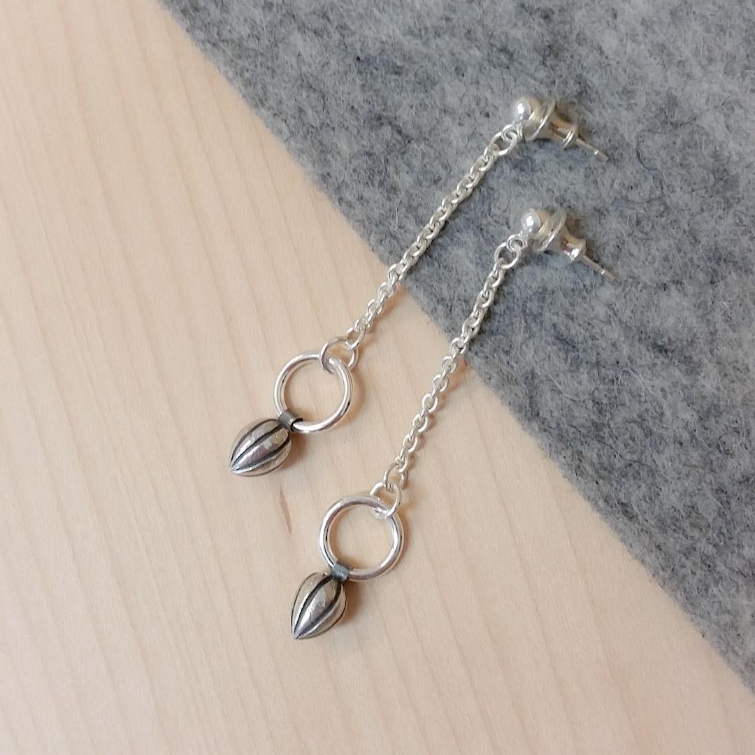 Pod Circle Earrings; long