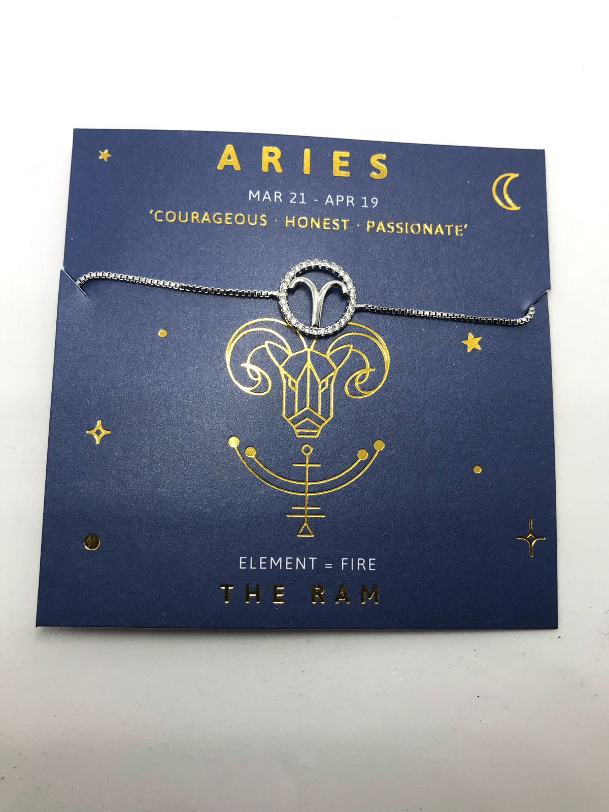 Life Charms Aries sign bracelet