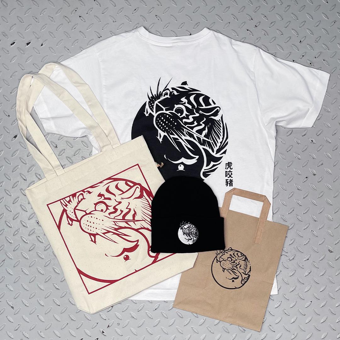 Merch Bundle with White Logo Tshirt