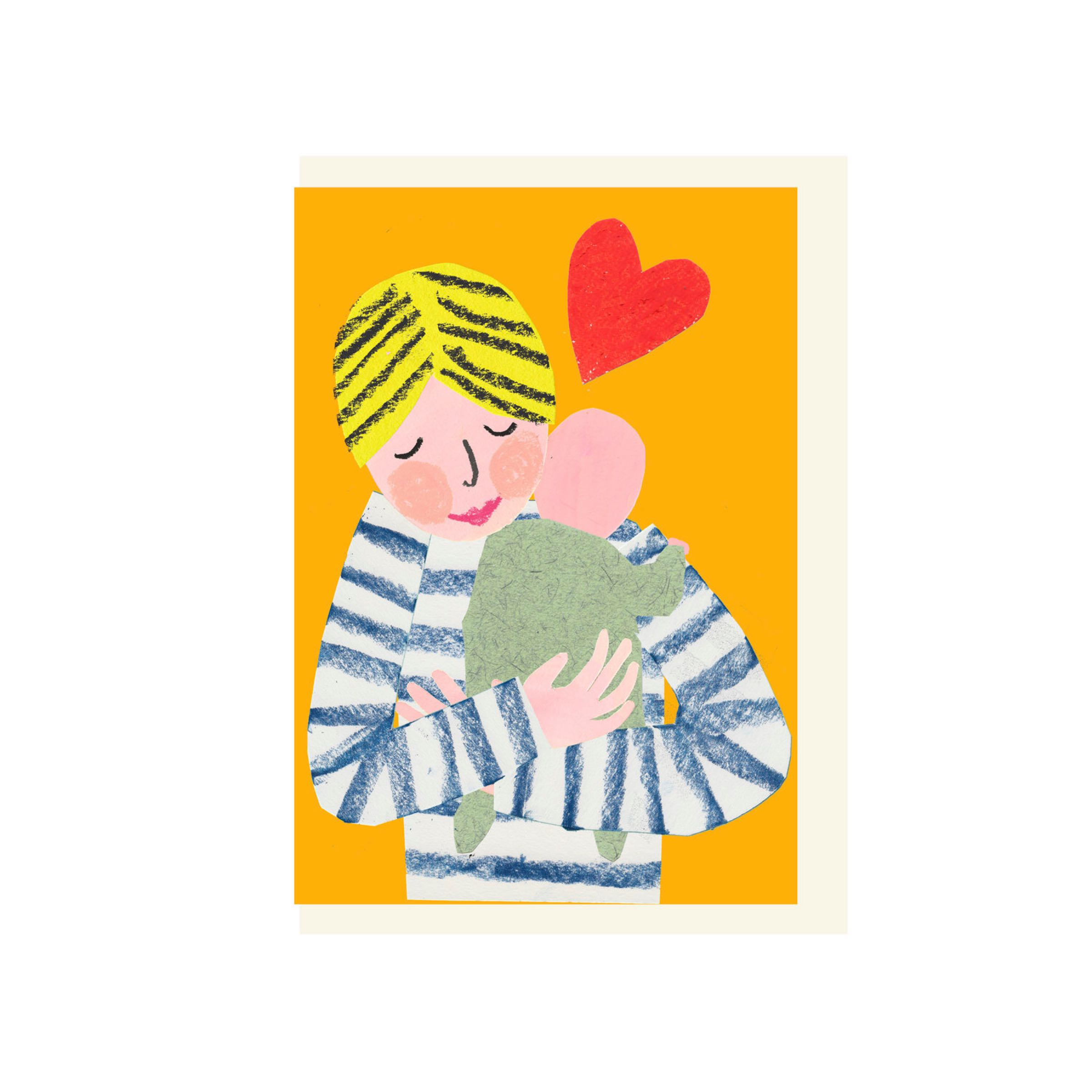 New Baby Cuddle card by Hadley Paper Goods