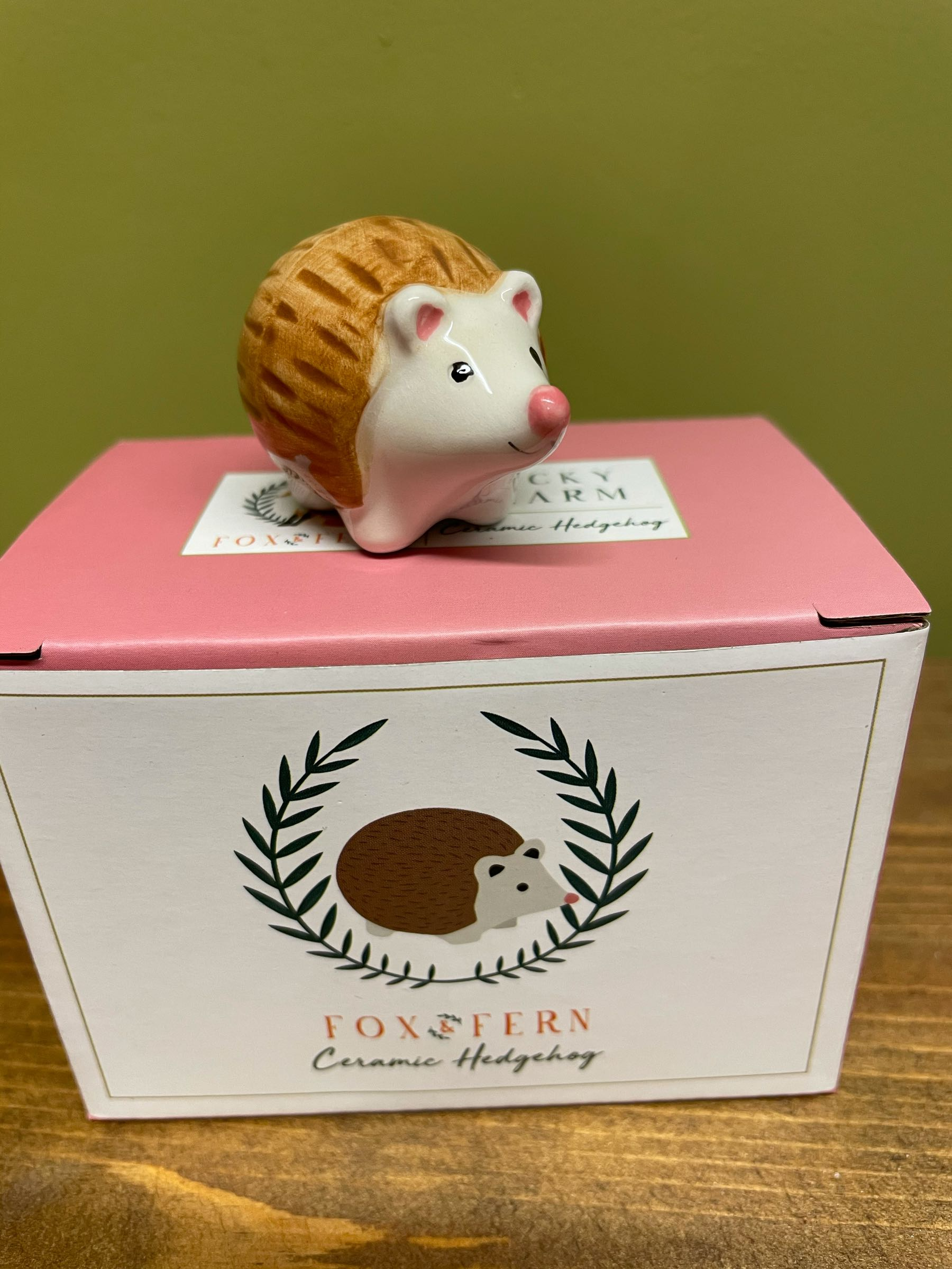 Lucky Charm Ceramic Hedgehog