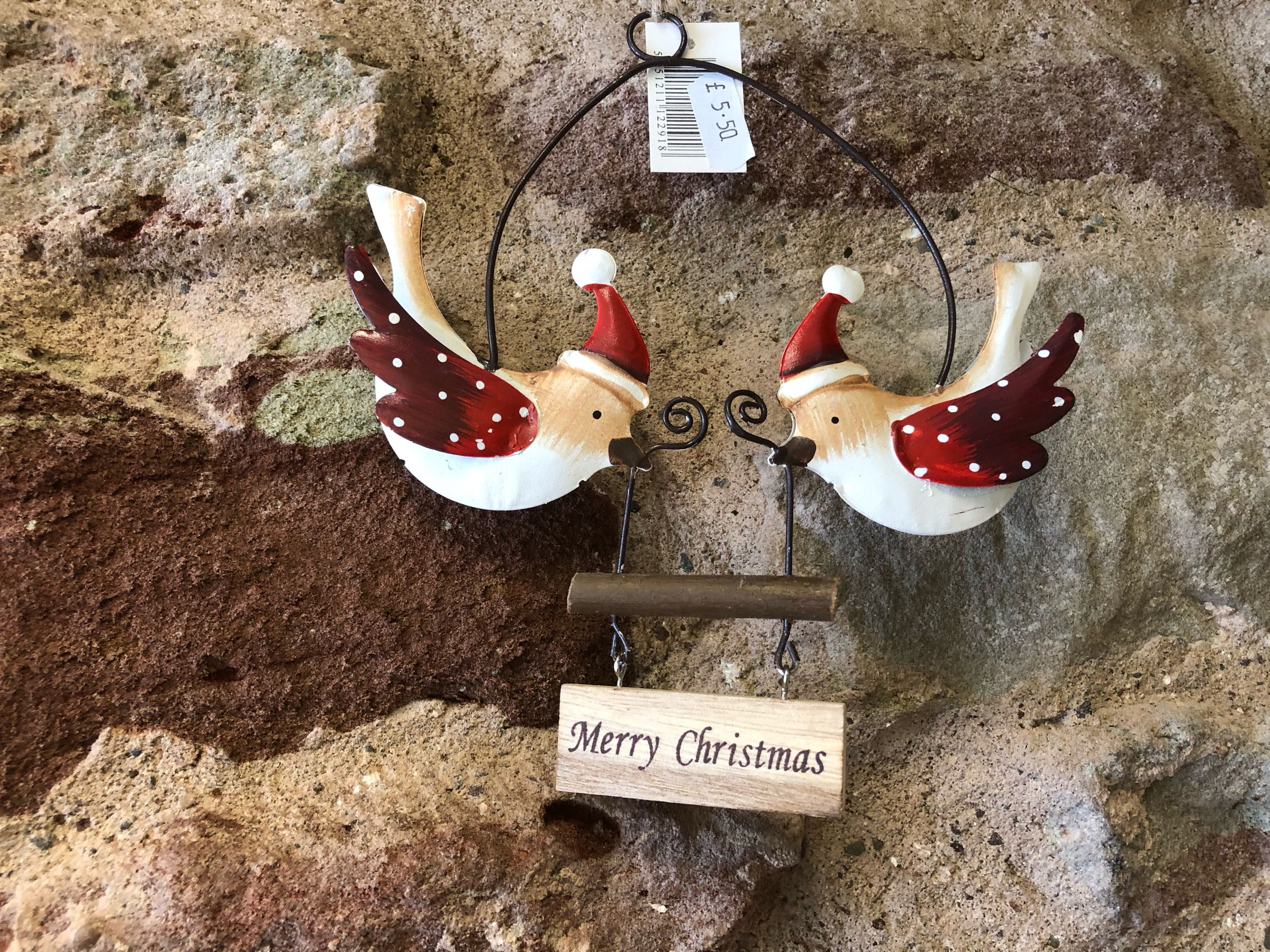 Merry Christmas double bird hanger