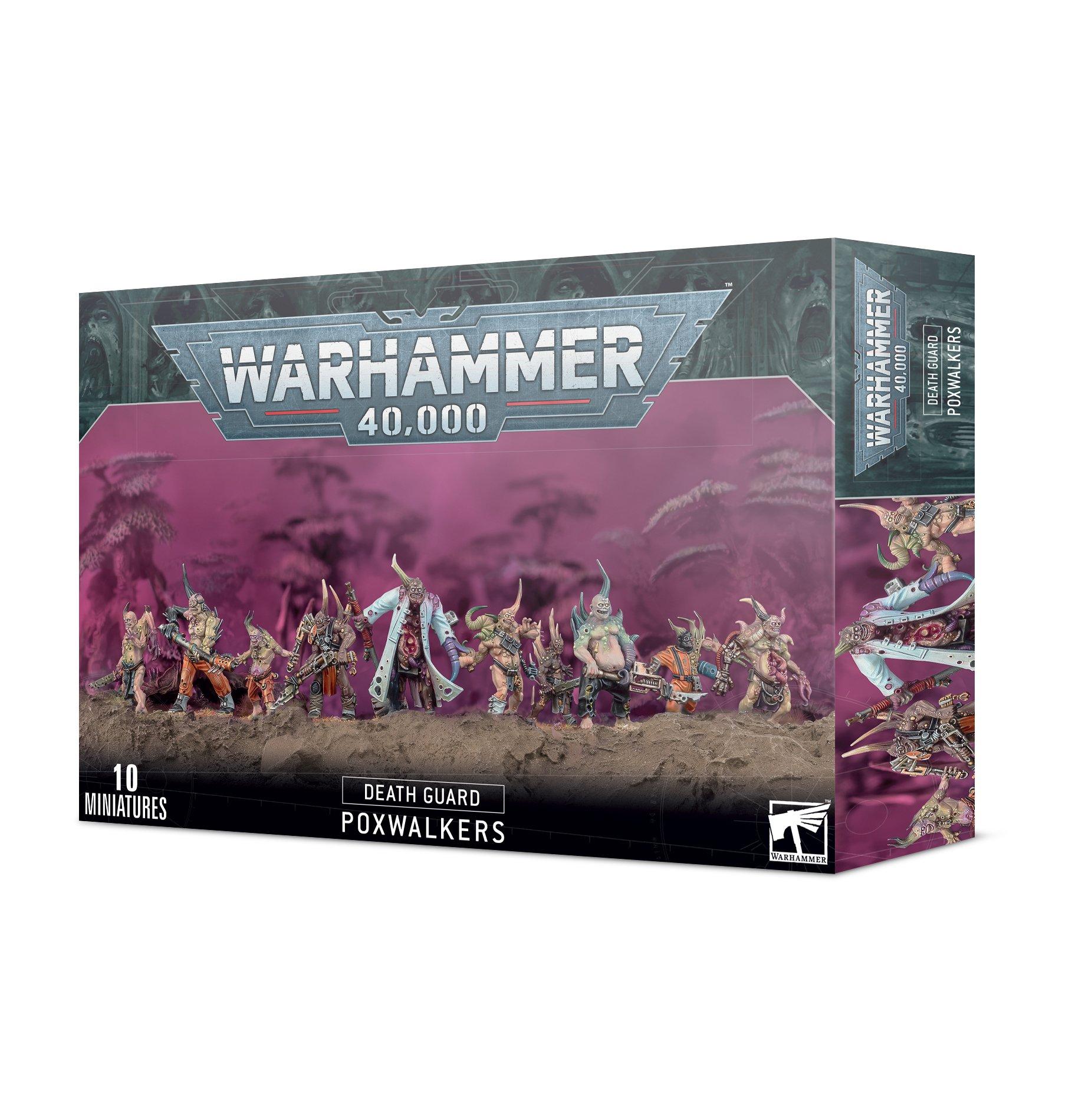 Warhammer 40,000 Death Guard Poxwalkers -miniatyyrit