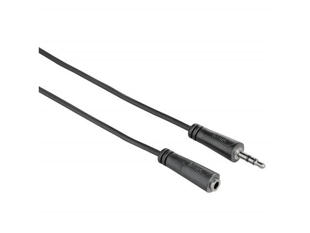 HAMA Johto Audio 3.5mm-3.5mm Jatke 3m Musta AUX
