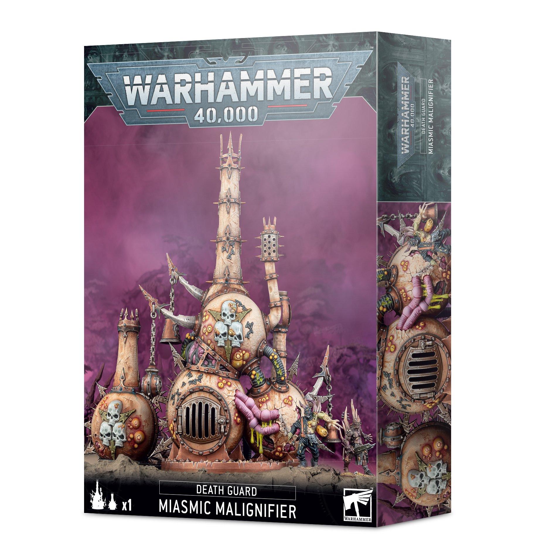 Warhammer 40,000 Death Guard Miasmic Malignifier -pienoismalli lavaste