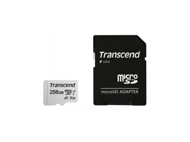 TRANSCEND MICROSDXC UHS3/V30 256GB W/ADAPTER