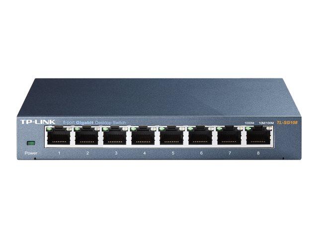 TP-LINK TL-SG108 8-portin Gigabit Kytkin