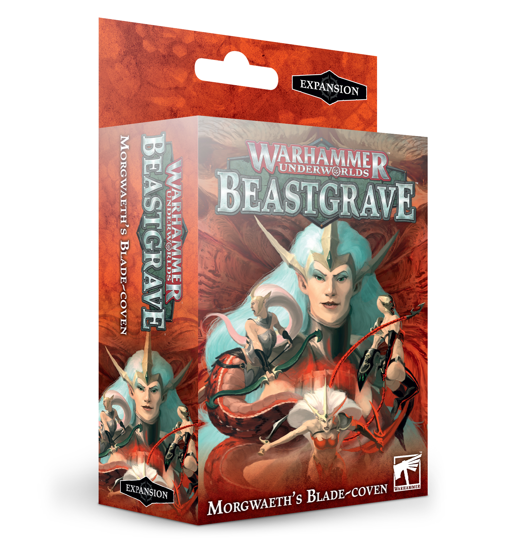 Warhammer Underworlds Beastgrave Morgwaeth's Blade-Coven -lautapelin lisäosa