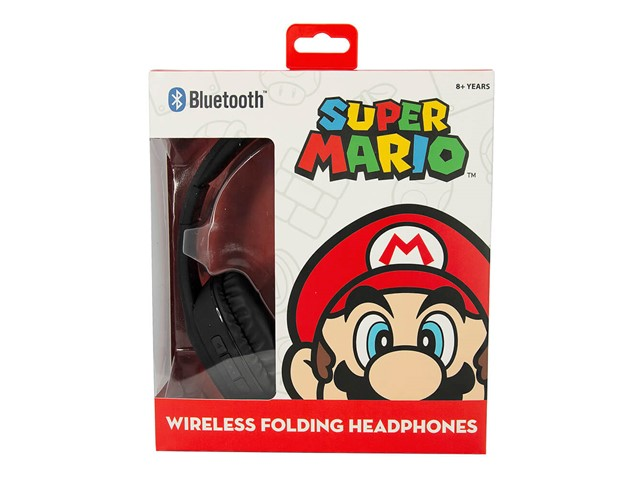 SUPER MARIO Kuulokkeet Teen Bluetooth Over-Ear 100dB Langaton Mario