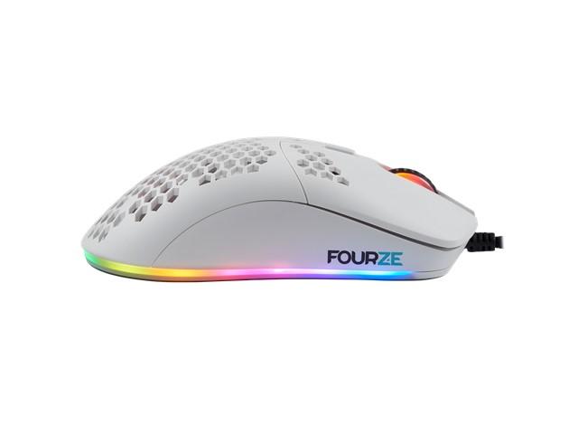 FOURZE GM800 Pelihiiri RGB - valkoinen