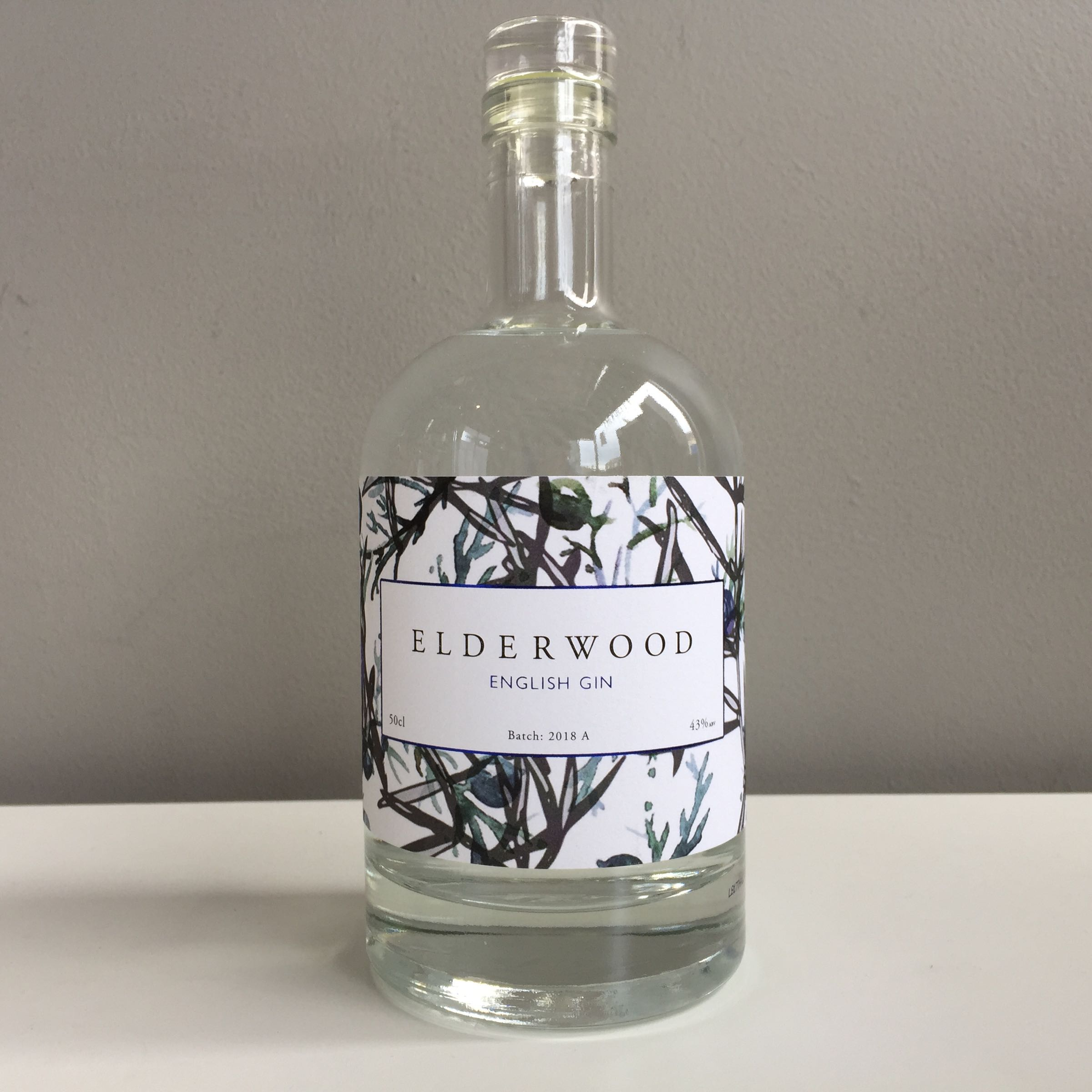 Elderwood English Dry Gin 50cl 43% ABV
