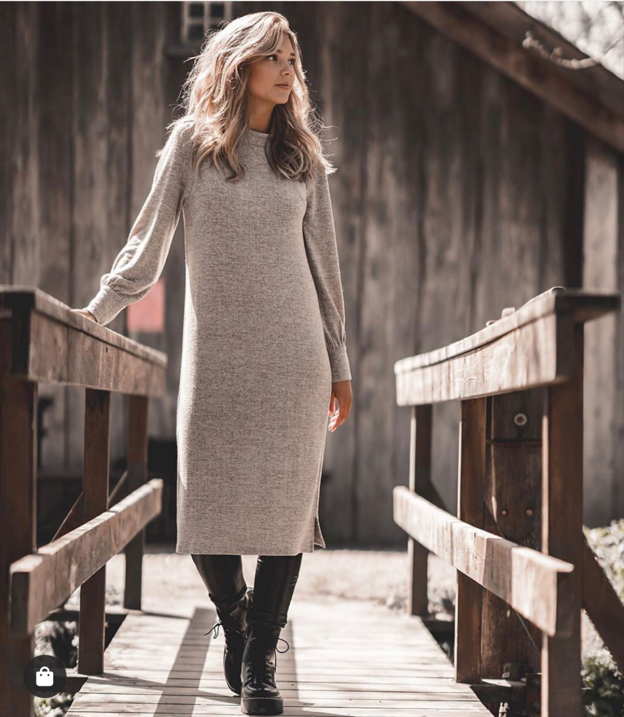 JACKIE klänning, Sandstone