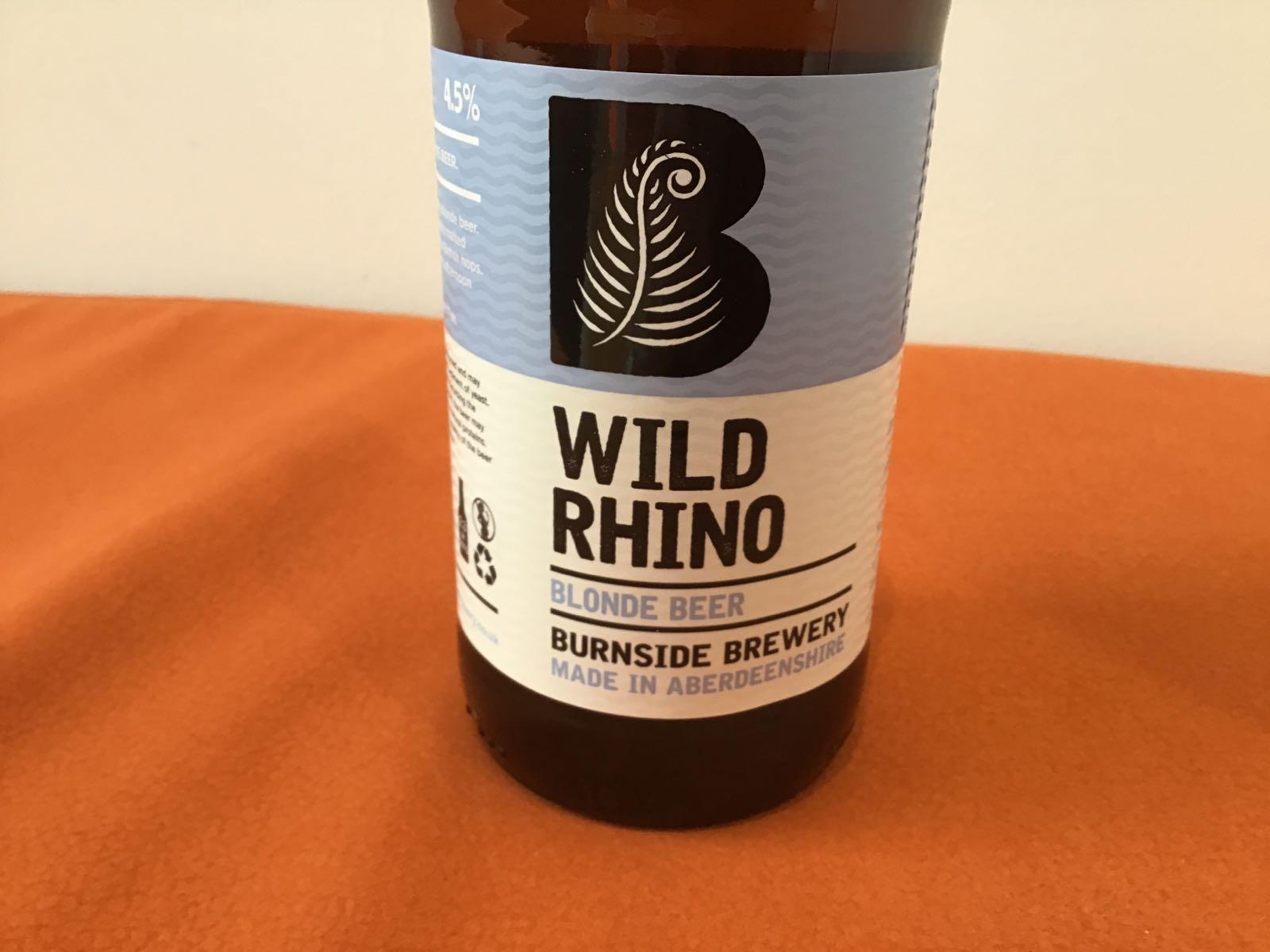 Burnside Brewery: Wild Rhino Blonde Beer