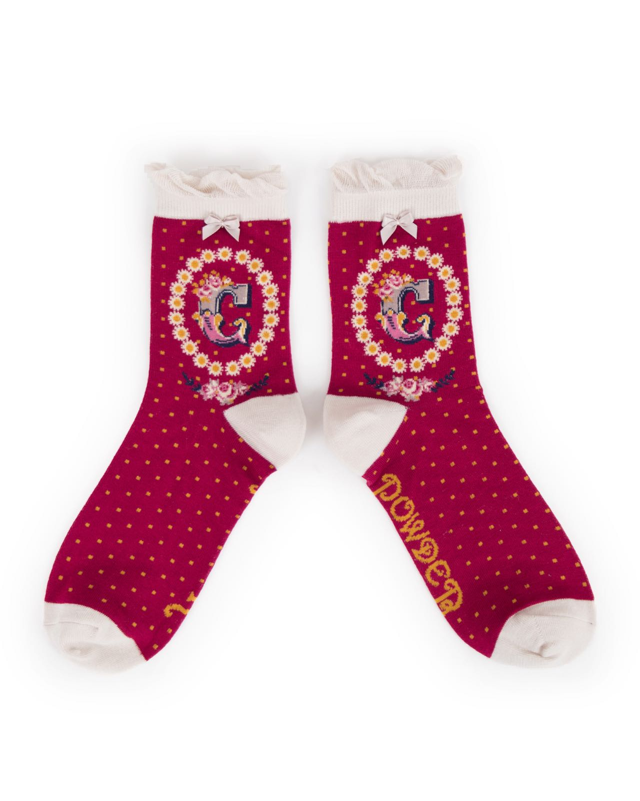 Powder Alphabet socks C (product may differ from item shown in the photo)