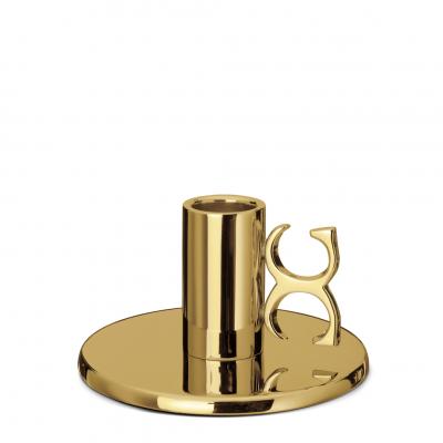 Ljusstake, Classic Collection, Monogram, Brass, Liten