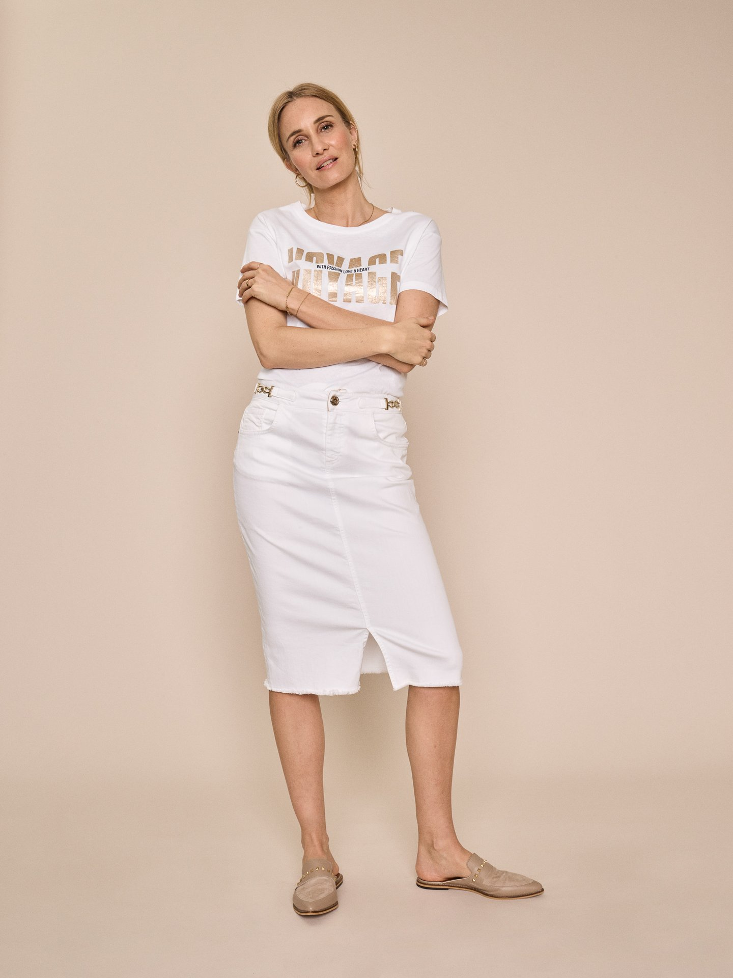 Kjol, Mos Mosh, Selma White Skirt