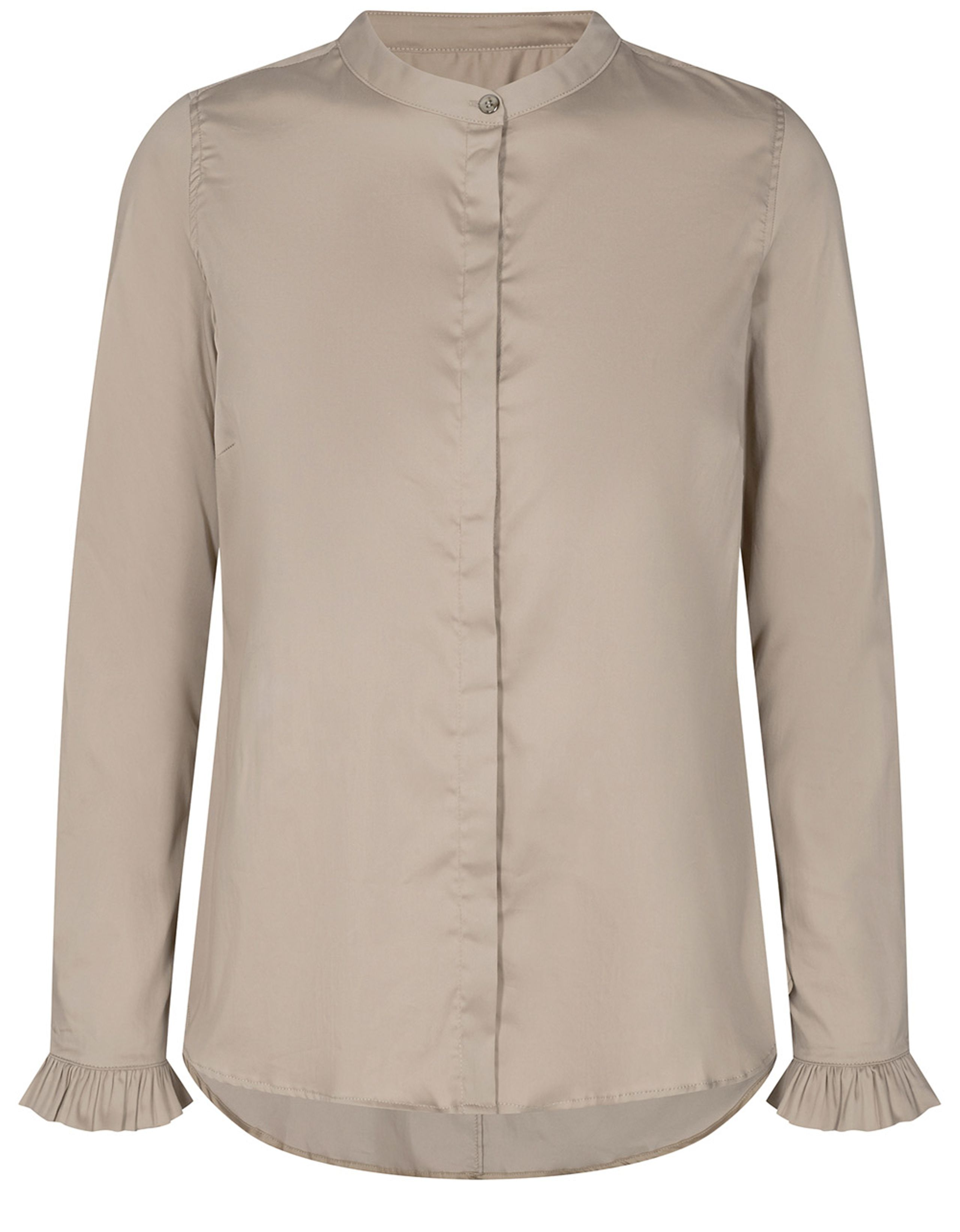 Blus, Mos Mosh, Mattie Sustainable Shirt, Light Taupe