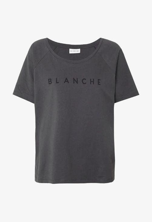 T-Shirt, Blanche, Main Raglan, Caviar