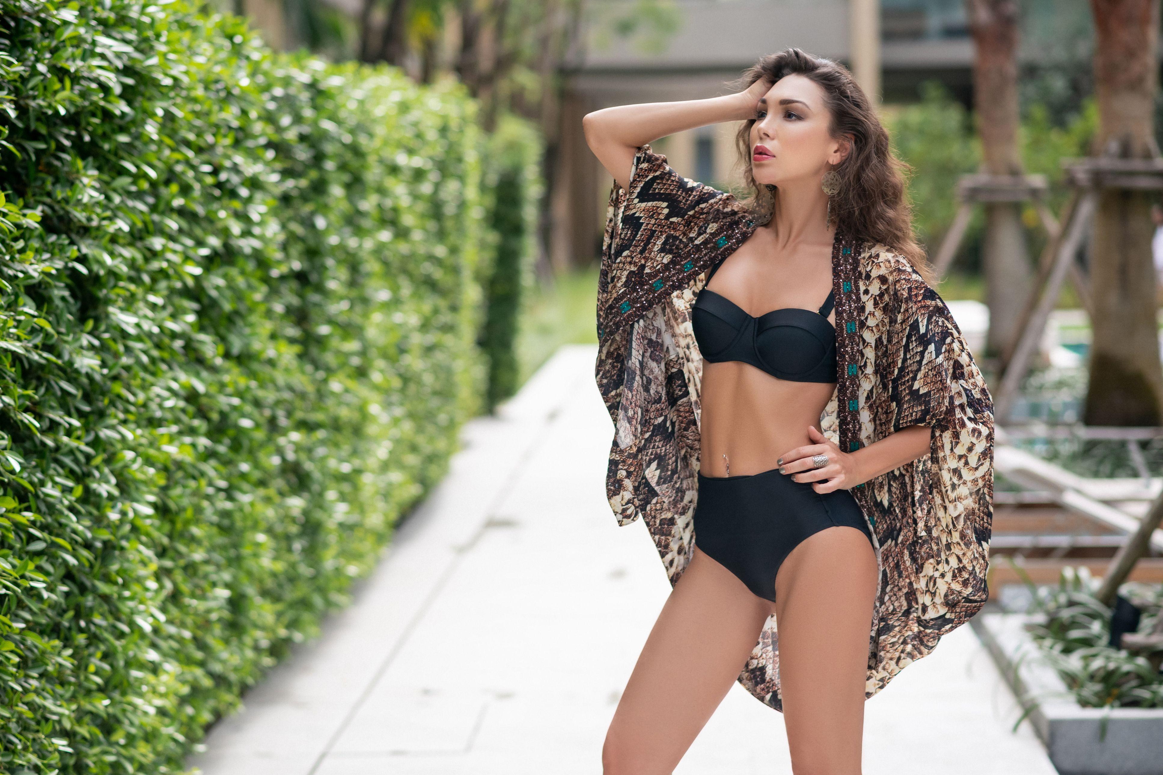 Kaftan, Kaanda Beach Life, Stella Snake Ballong Kimono - Resort Collection