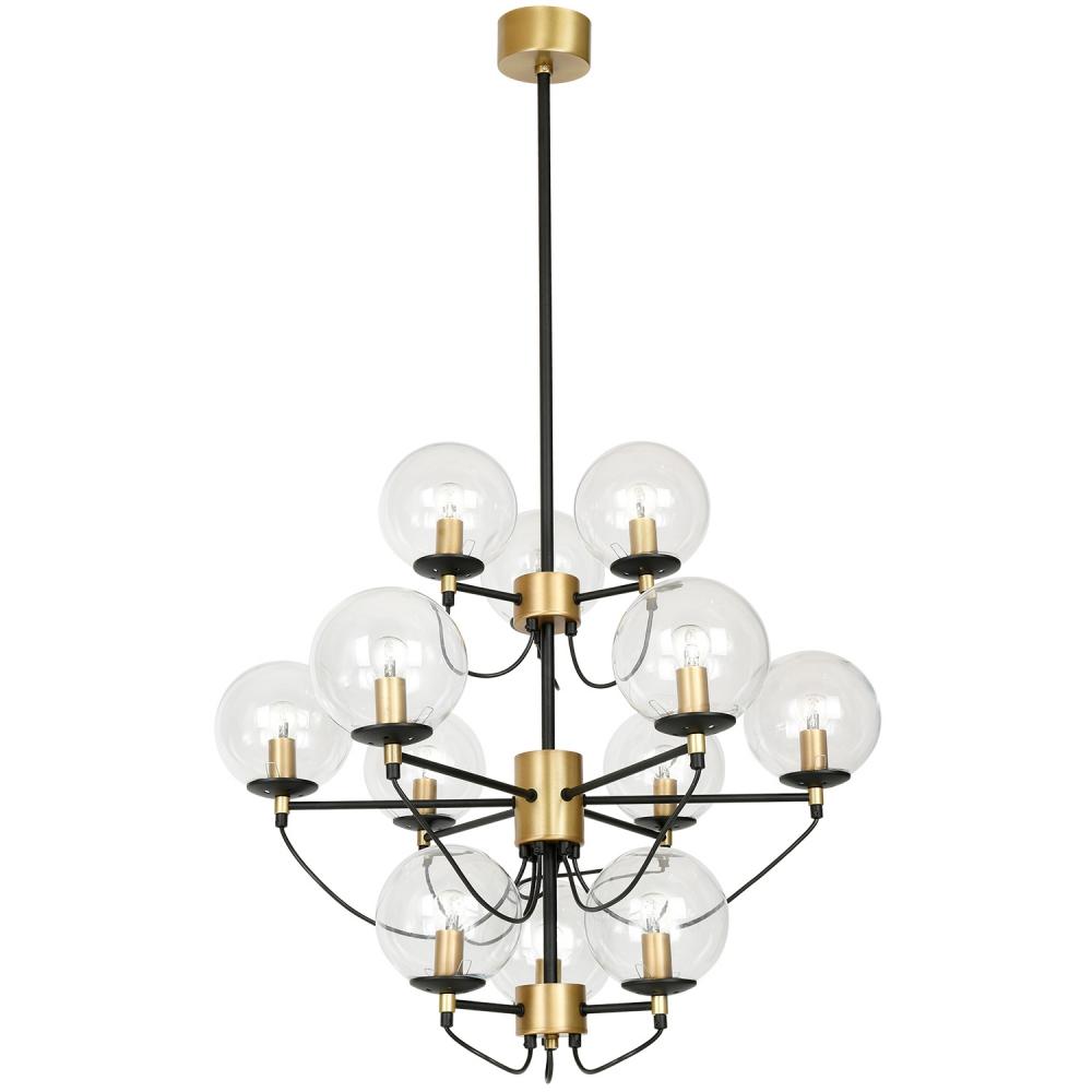 Lampa, Perla, Svart/Guld