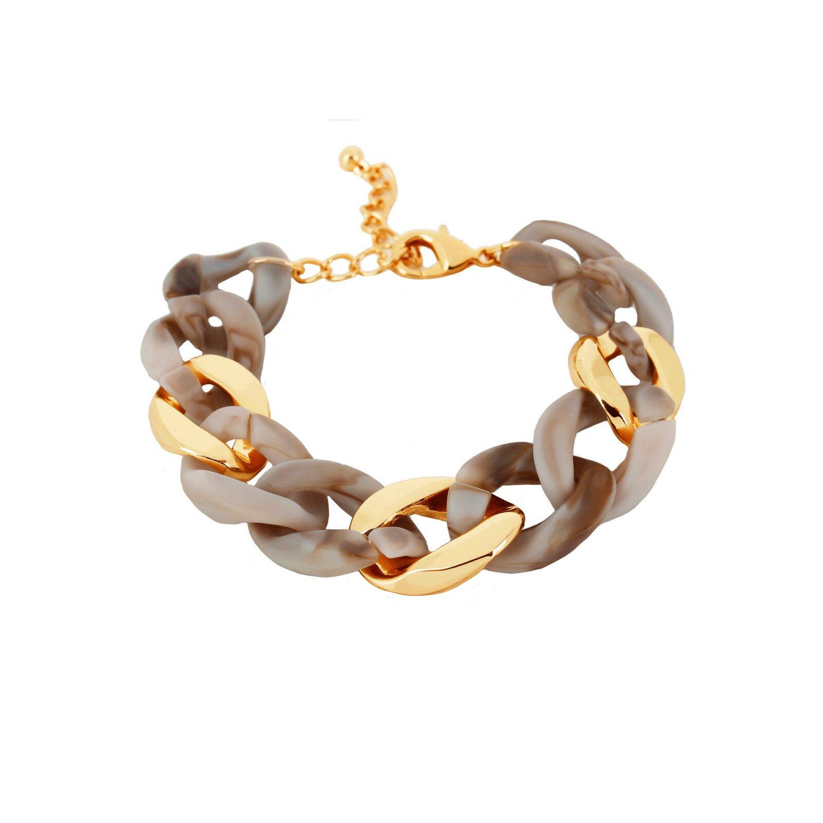 Armband, DNSK, Quiver Curb Sand/Guld