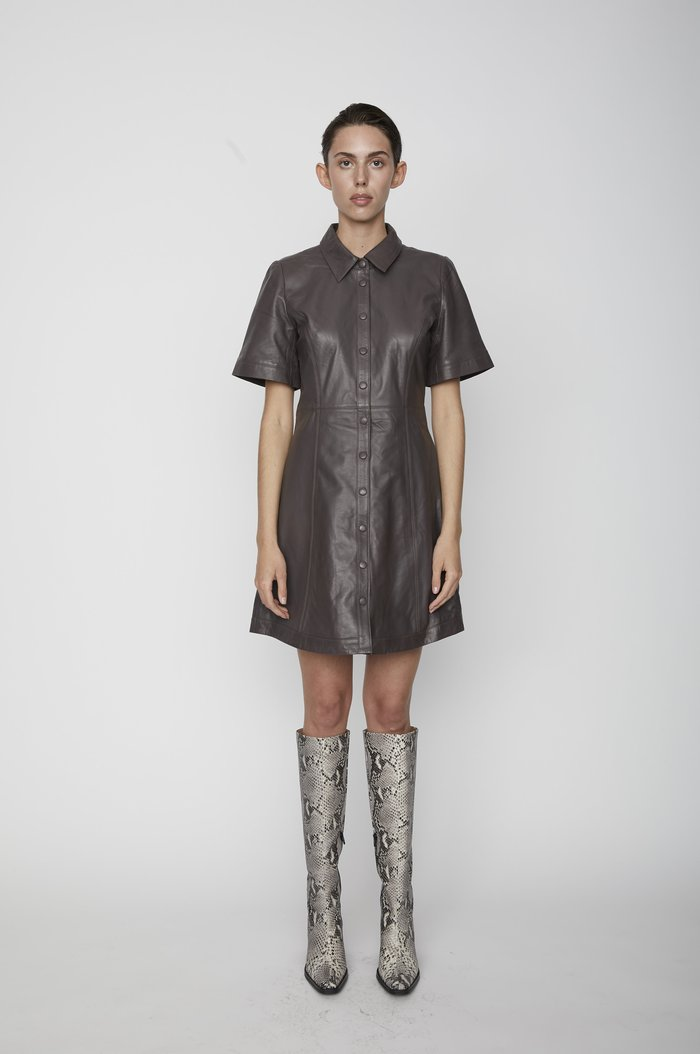 Skinnklänning, Just, Fall Leather Dress
